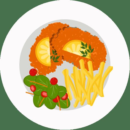 Illustration Schnitzel